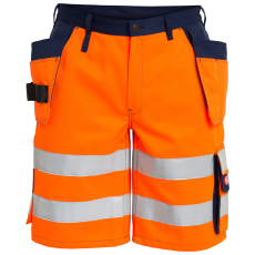 FE Engel shorts 6502, hængelommer, EN 20471 orange marine, 8