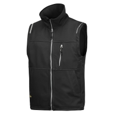 Snickers åndbar Softshell vest, 4511 sort str. 2XL