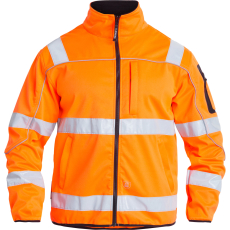 FE Engel softshelljakke 1153, EN 20471 orange, KL.3, Str. XL