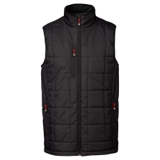 ID vatteret vest 0884, sort, str. 2XL